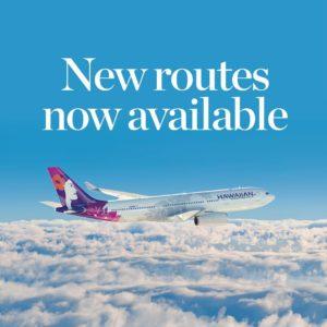 ハワイアン航空がフロリダ州テキサスの目的地への直行便を開始