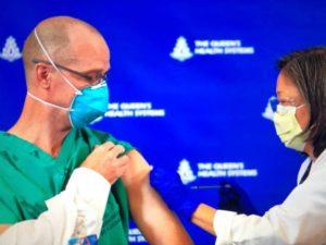 ハワイで初めてファイザーワクチンを接種しました