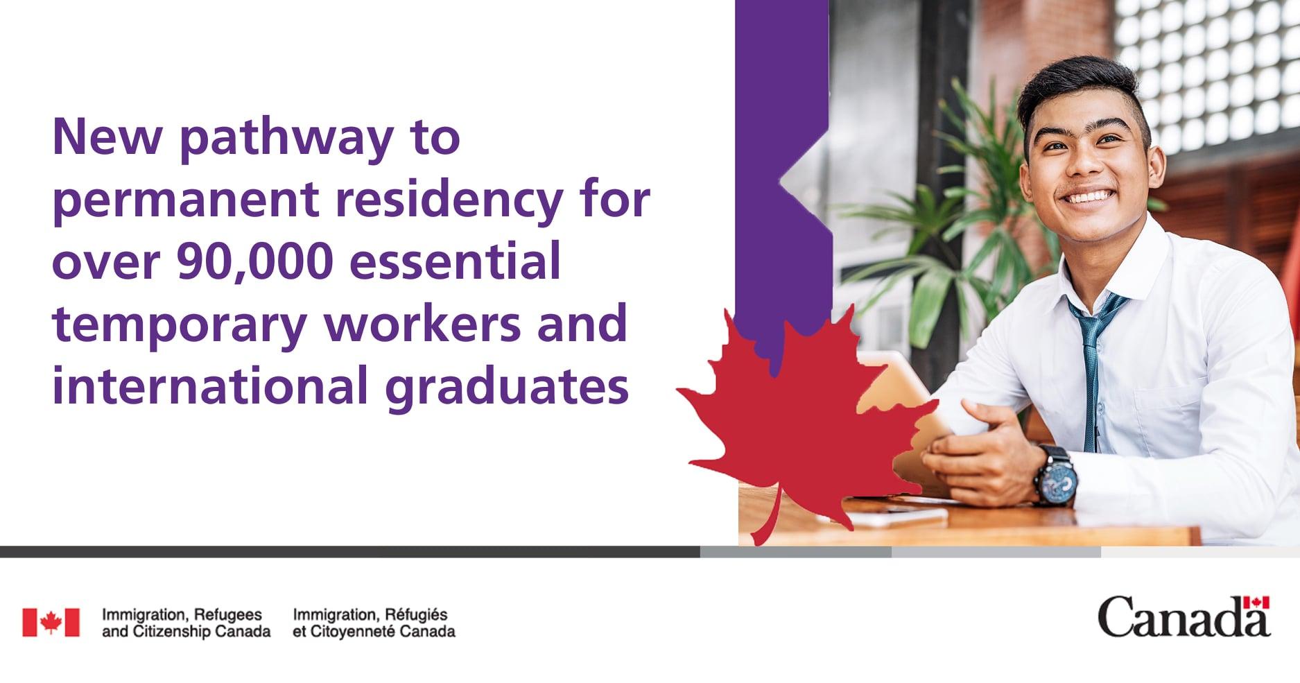 永住権 90,000人以上の必須の労働者と卒業生のための新しい道