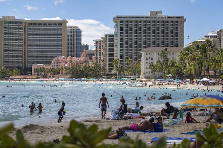 ハワイ 124件の新規感染を伴う 3桁の症例が 3日連続で発生